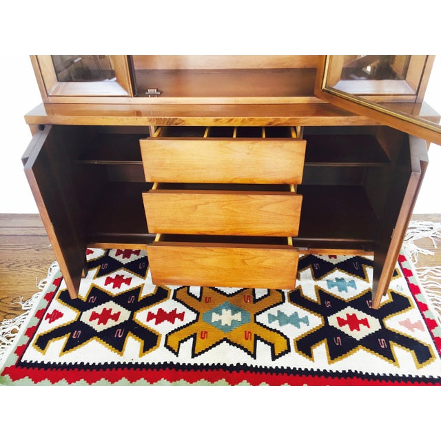 Vintage Mid Century Walnut Hutch - Image 5 of 10