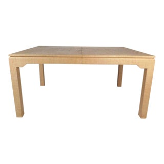 Vintage Modern Karl SpringerGrass Cloth Dining Table