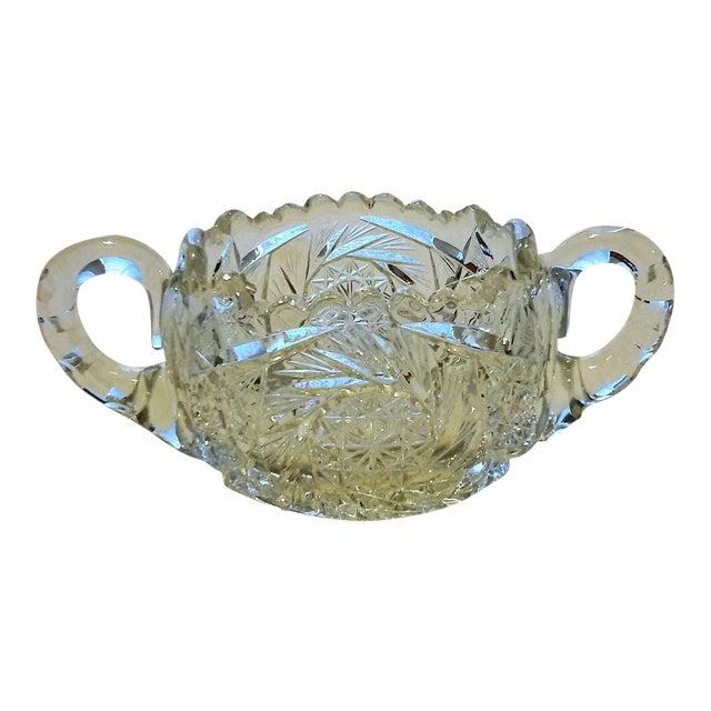 American Brilliant Period Cut Glass Sugar Dish - Image 1 of 7