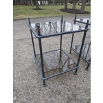 Image of Claudio Rayes Iron & Glass Side Tables - A Pair