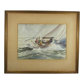 """Sailing"" Watercolor by John Abernathy"