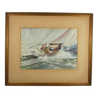 """""""Sailing"""" Watercolor by John Abernathy"""
