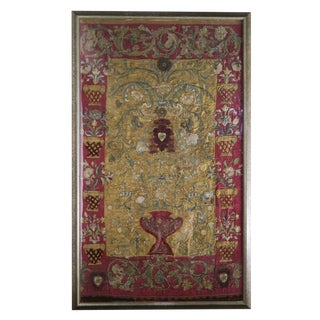 17th C. Italian Textile Framed Wall Hanging