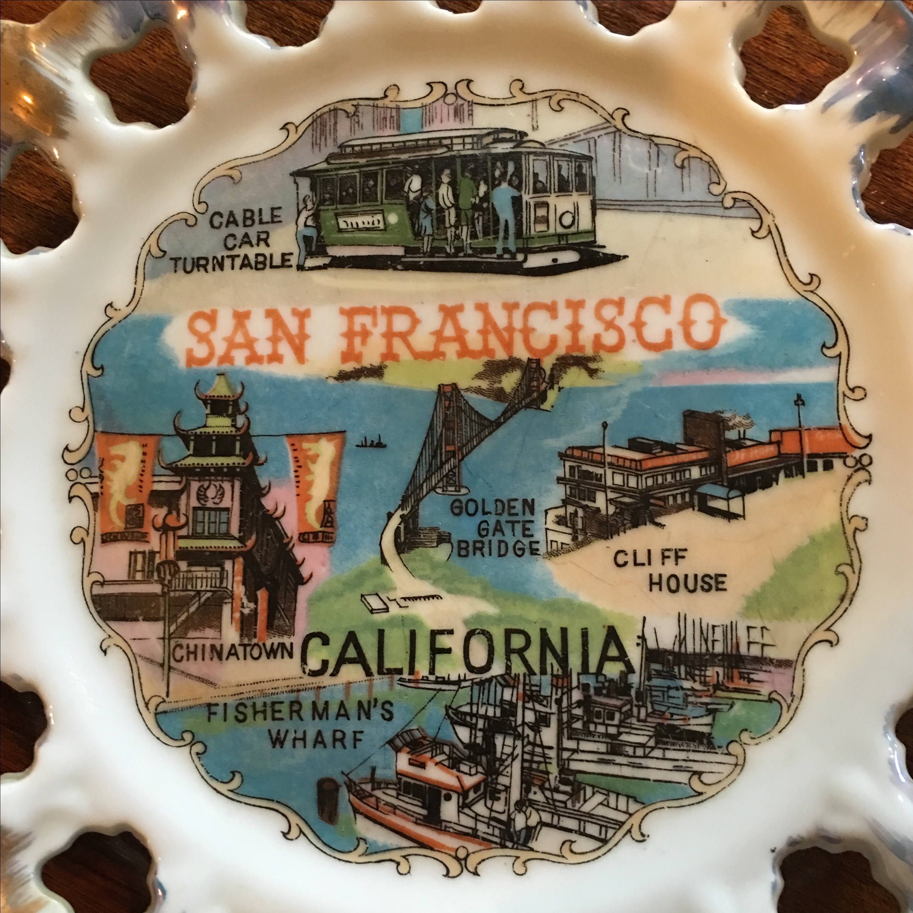 Vintage San Francisco Wall Decor Plate   Image 4 Of 8