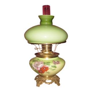 Bradley & Hubbard Hand Painted Table Lamp