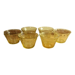 Amber Heat Proof Glass Ramekins - Set of 6