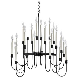 Rare Lightolier Twenty-Four-Arm Chandelier