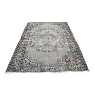 Turkish Oushak Area Rug - 5′8″ × 8′7″