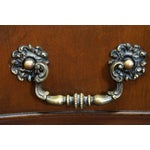 Image of Flame Mahogany Serpentine Chippendale Style Chests of Drawers - A Pair