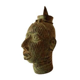 African Ife Bronze Head of a Queen Yoruba Nigeria