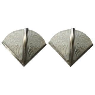 Degue French Art Deco Sconces - A Pair