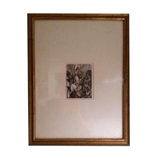 """Christ Entrance Into Jerusalem"" Framed Woodcut"