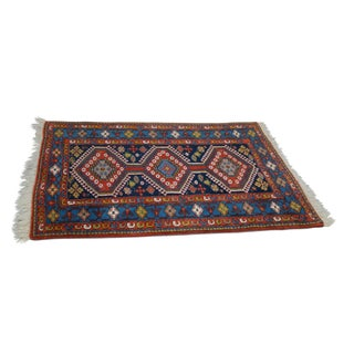 Quality Hand Tied Caucasian Rug - 3′7″ × 5′6″