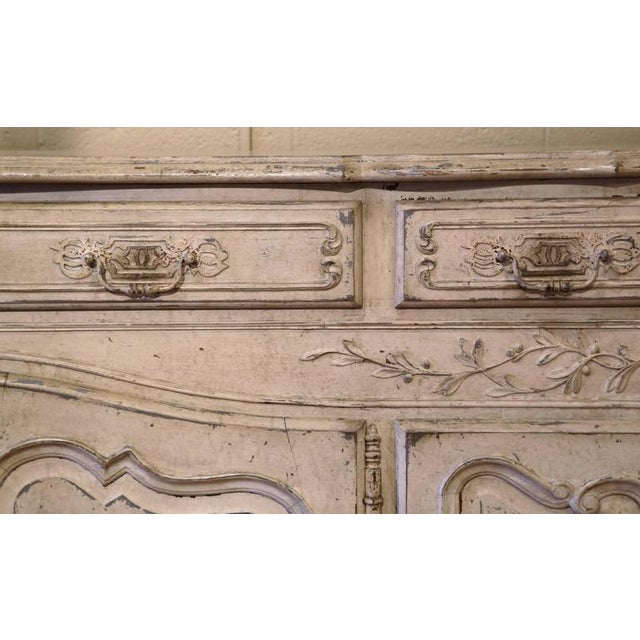 Early 20th Century French Louis XV Carved Painted Buffet - Image 9 of 9