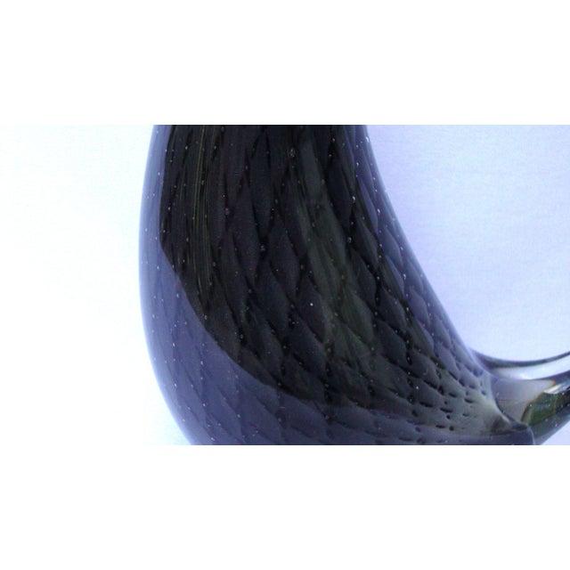 Murano Italian Art Glass Black Red Bird - Image 8 of 11