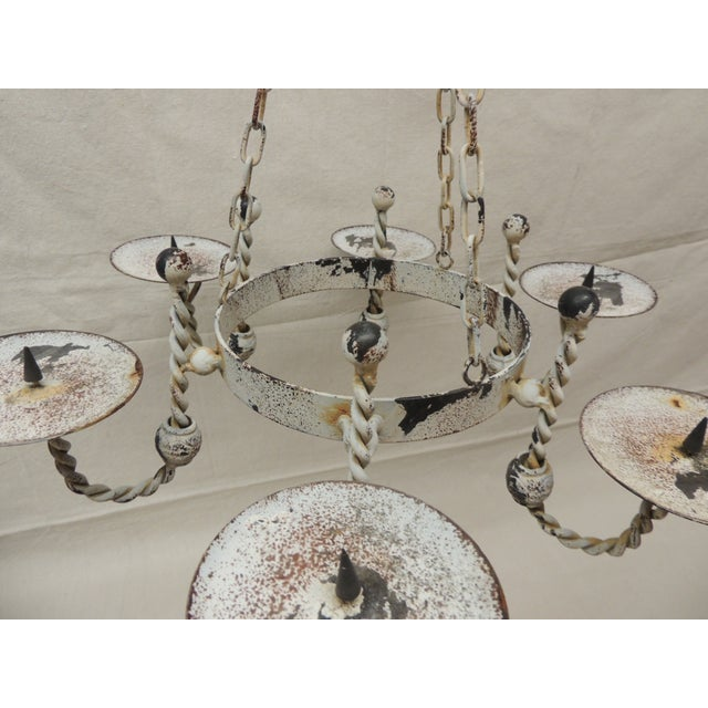 Vintage Shabby Chic Hanging Chandelier - Image 6 of 6