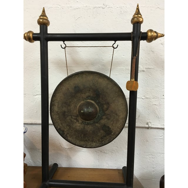 Vintage Chinese Bronze Gong Stand & Mallet - Image 5 of 10