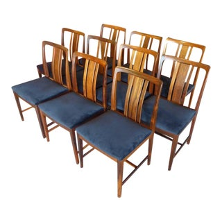 Ten Fine Linde Nilsson Rosewood Dining Chairs, Sweden