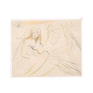 "Salvador Dalí Style ""Mort de Cléopatra"" Etching"