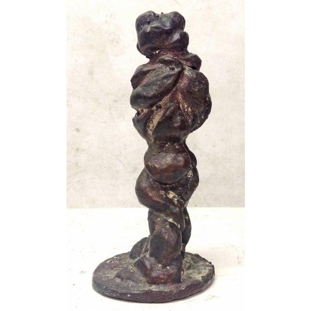 Vintage 1975 Amorphous Cast Bronze Sculpture - Image 5 of 7