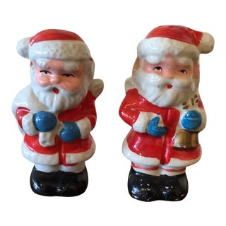 Christmas Santa Salt & Pepper Shakers - a Pair