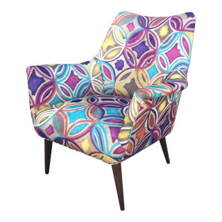 Colorful Danish Mid Century Modern Chair
