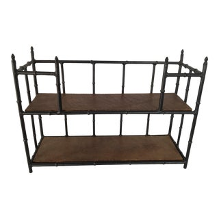 Vintage Faux Bamboo Iron Wall Shelf