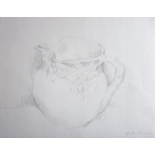 """""""Porcelain Water Pitcher"""" Drawing - 14"""" x 11"""""""