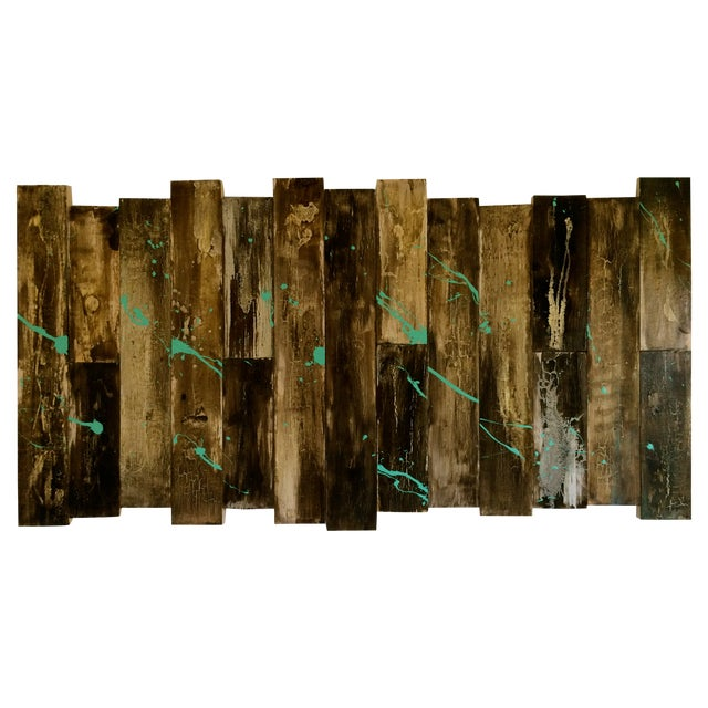 Image of Contemporary Abstract Painting on Wood