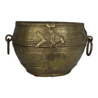 Vintage/Antique African Ashanti Bronze Bowl