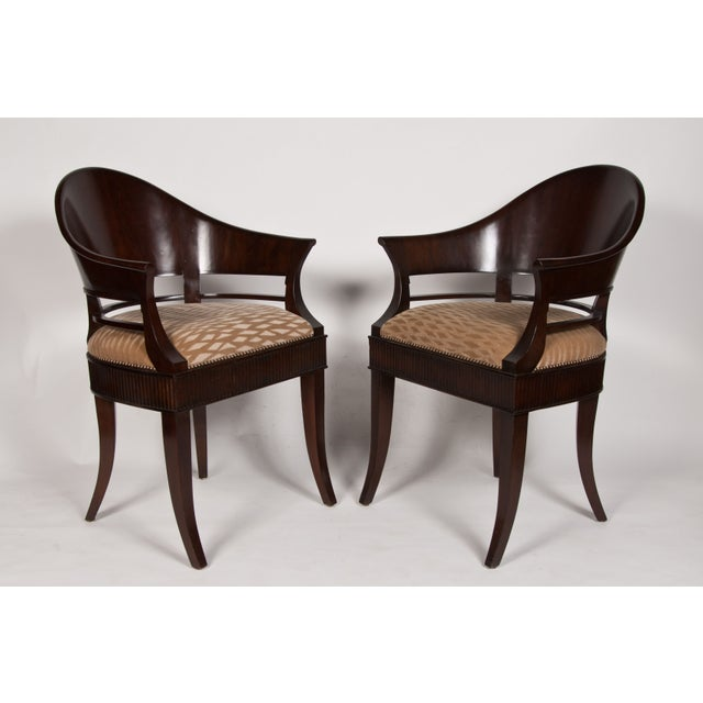 Solid Mazzard James Jennings Chairs - Pair of 2 - Image 2 of 5