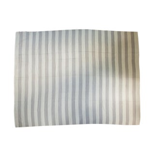 "Striped Gray & White Kilim Rug - 9'3"" x 12'1"""