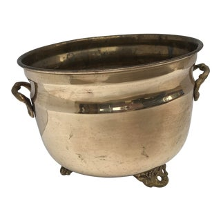 Brass Footed Planter