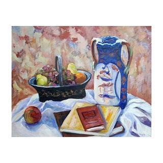 J. Smith Tabletop Still Life Painting