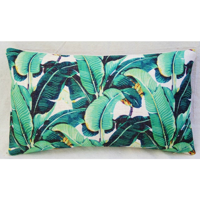 Dorothy Draper-Style Banana Leaf Pillows - A Pair - Image 6 of 11