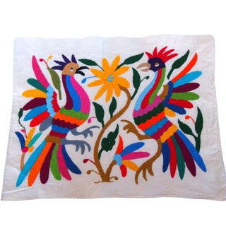 Otomi Embroidered Folk Art - Roosters