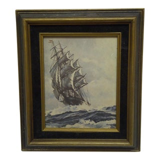 "Original Framed Print ""Sailing Ship"""