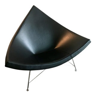 Nelson Black Leather Coconut Chair