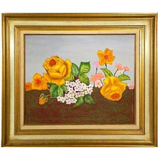 Golden Roses Oil Painting