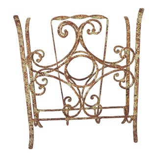 Rustic Outdoor Iron Magazine Rack