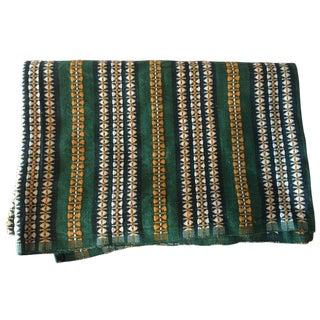 Vintage Green, Yellow & White Woven Textile