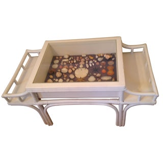 Bamboo Seaside Shadow Box Coffee Table