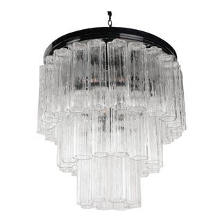 Round Three Tier Penta Foil Chandelier by Camer