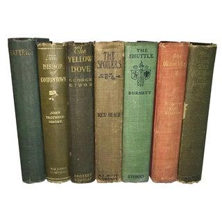 Antique Distressed Display Books - Set of 7