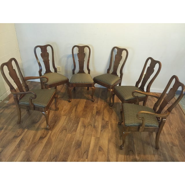 Henredon Traditional Dining Chairs - Set of 6 - Image 2 of 11