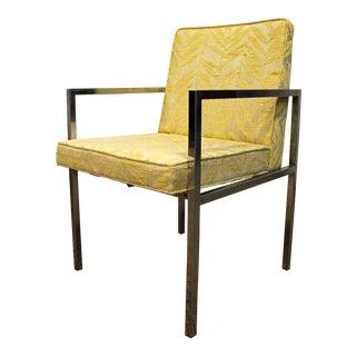 Mid-Century Milo Baughman Chrome Accent Chair