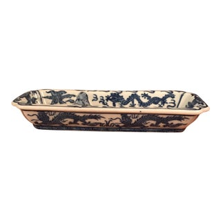 Dragon White & Blue Glaze Cermic Chopstick Holder