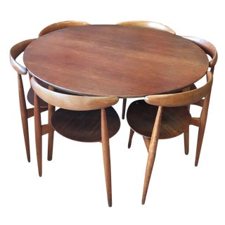 Hans Wegner Danish Modern Teak & Oak Dining Set- Set of 7