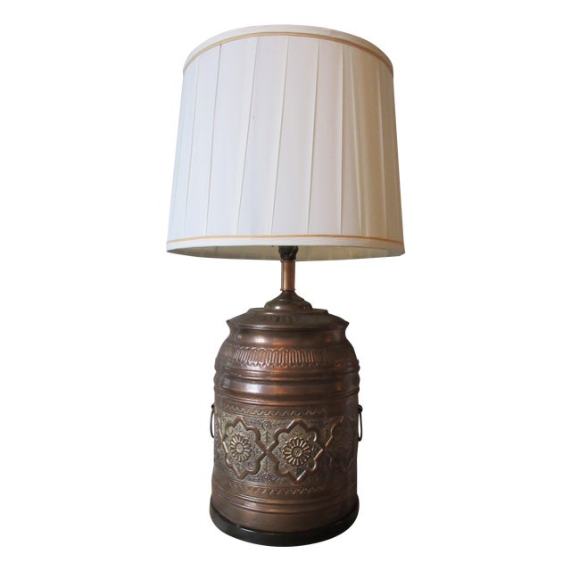 Image of Vintage Moroccan Style Brass Table Lamp