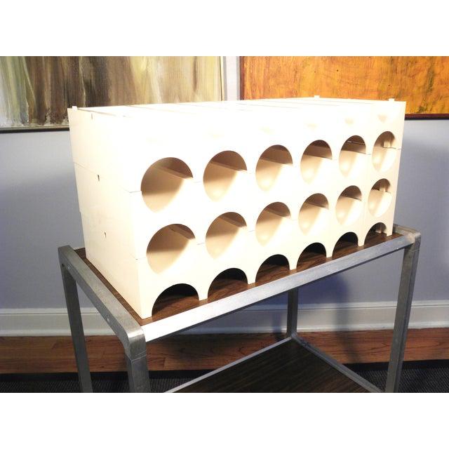 Image of Vintage Modular Plastic Wine Rack 3 Shelves